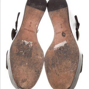 Derek Lam Shoes - Derek Lam Leather Platform Wedges